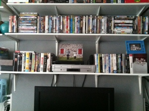 What our DVD collection used to look like